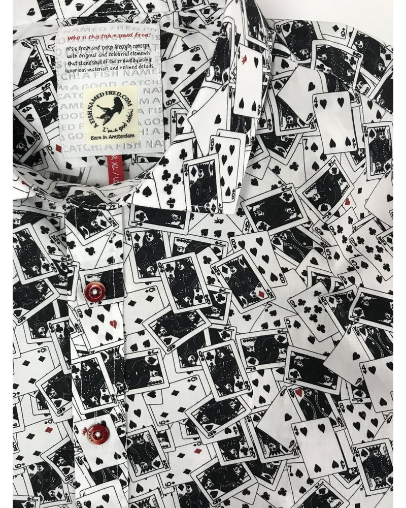 A FISH NAMED FRED Playing Cards Print Shirt