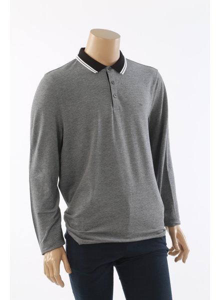 MICHAEL KORS MK LS Grey Polo with Black Collar