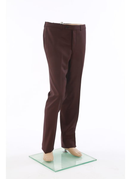 JACK VICTOR Modern Fit Wine Wool Dress Pant