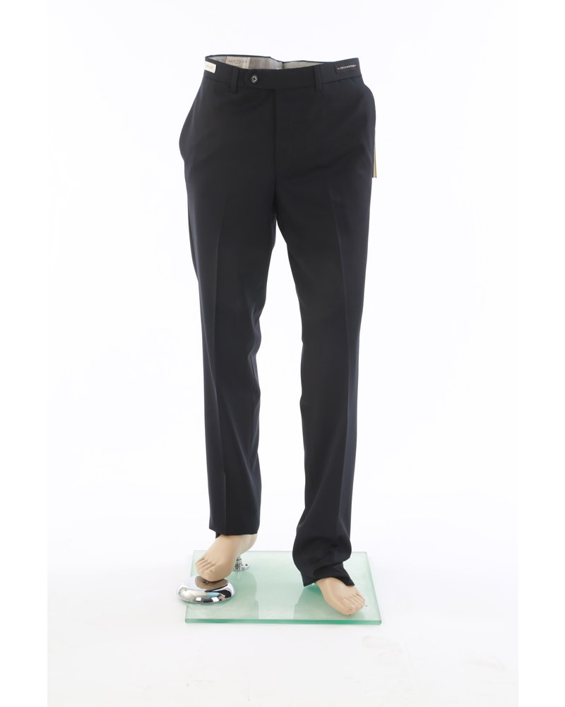 JACK VICTOR Classic Fit Black Wool Dress Pant