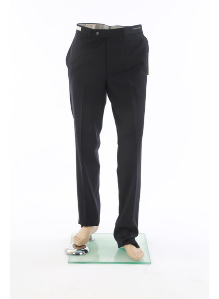 JACK VICTOR Slim Fit Black Wool Dress Pant