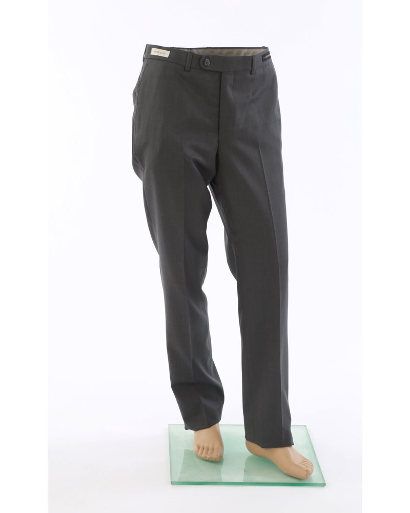 JACK VICTOR Classic Fit Bankers Grey Wool Dress Pant