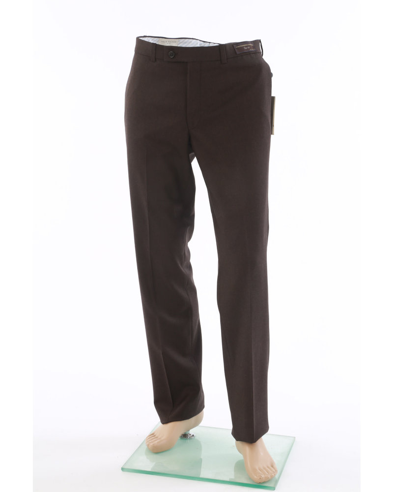 JACK VICTOR Modern Fit Brown Flannel Dress Pant