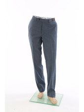 JACK VICTOR Modern Fit Blue Flannel Dress Pant