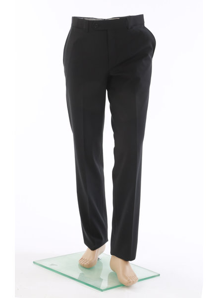 RIVIERA Black Basic Blended Pant Traveler