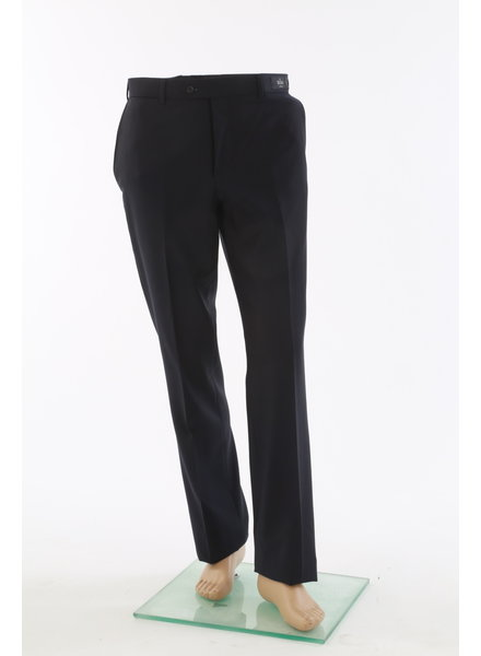 COPPLEY Slim Fit Black Wool Dress Pant