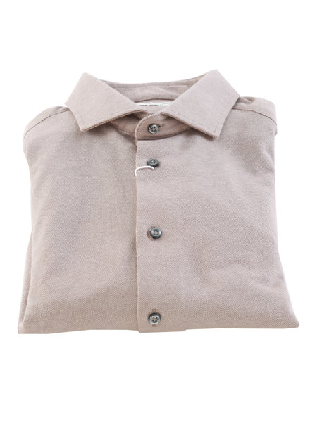 BRUUN & STENGADE Slim Fit Tan Stretch Shirt
