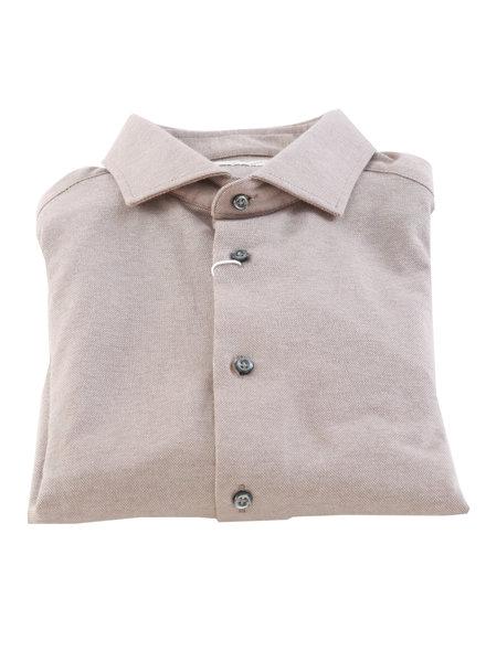 BRUUN & STENGADE Tan Stretch Slim Fit Shirt