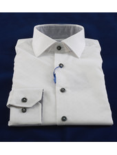 LIPSON Slim Fit White With Tonal Pattern Grey Trim