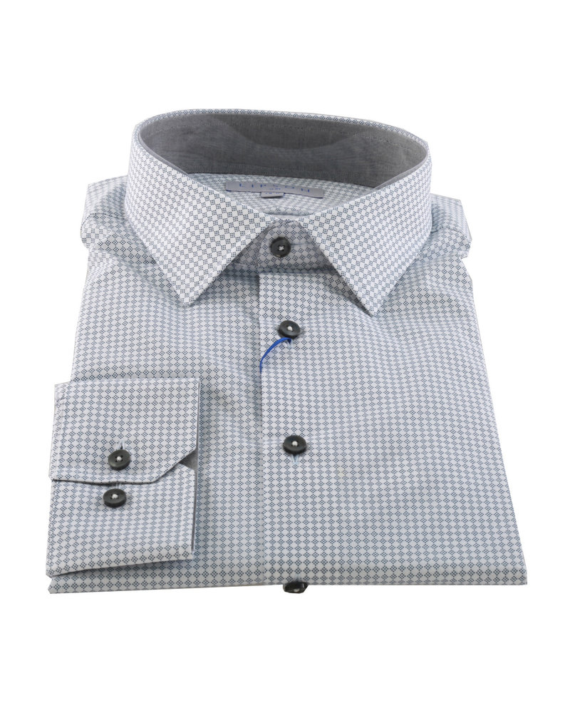 LIPSON Slim Fit Grey White Diamond
