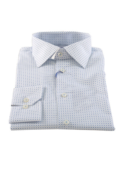 LIPSON White with Blue Dots
