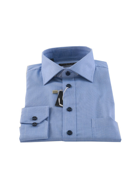 LIPSON Classic Fit Blue Neat Shirt
