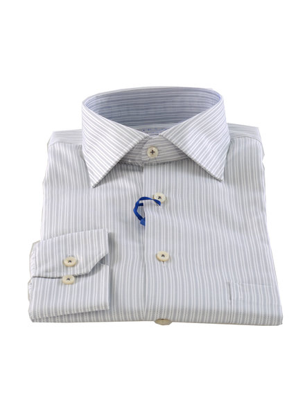 LIPSON Classic Fit Silver Stripe Shirt