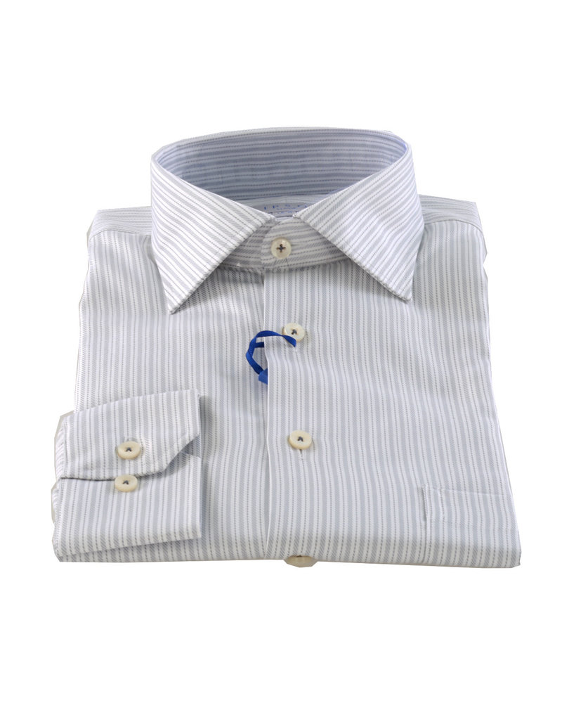 LIPSON Classic Fit Silver Stripe Shirt