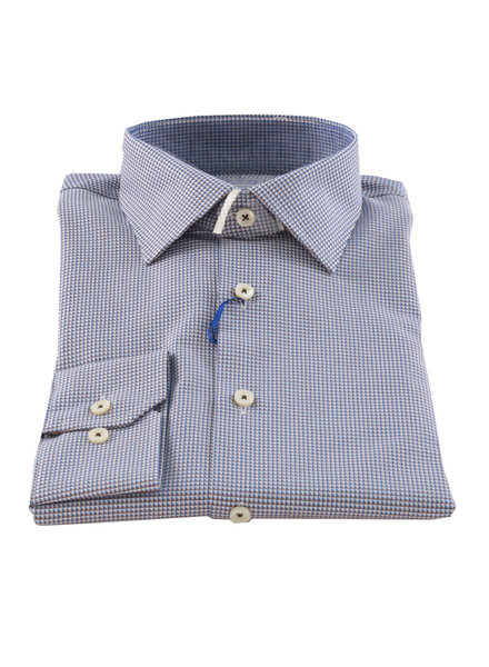 LIPSON Contemporary Fit Blue & Brown Neat