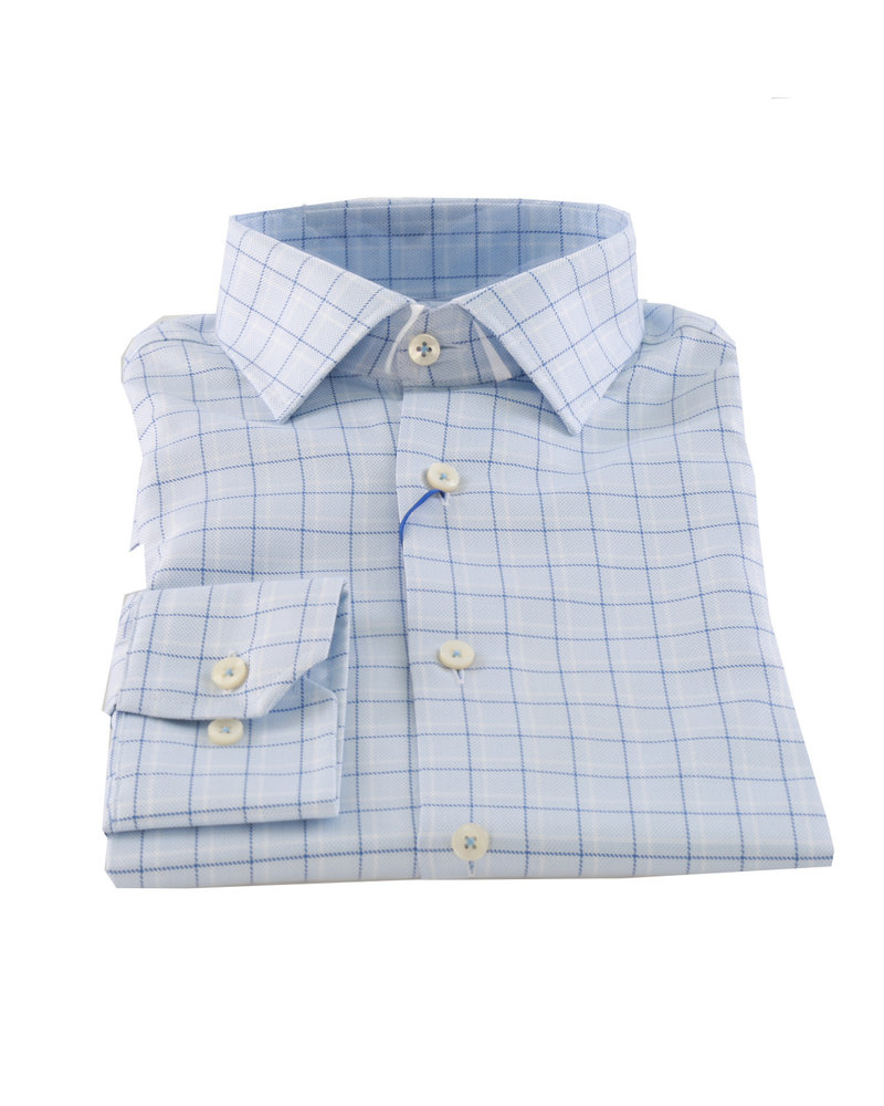 LIPSON Slim Fit Blue Check