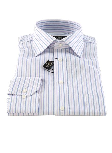 LIPSON Classic Fit Mauve Blue Stripe Shirt