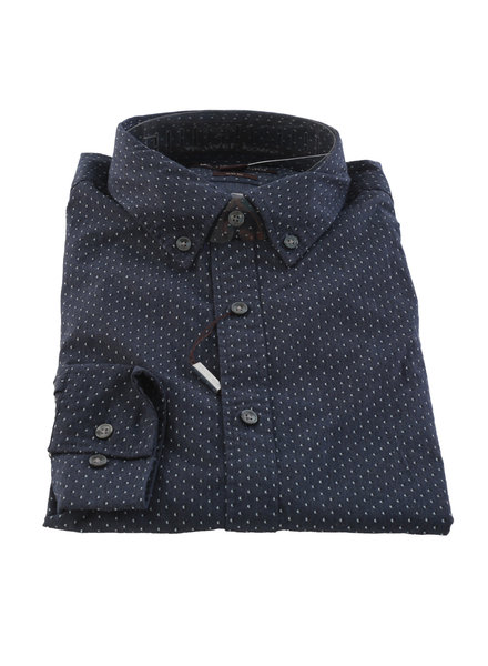 MICHAEL KORS Slim Fit Navy Pin Dot Shirt