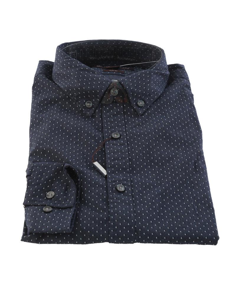 MICHAEL KORS Slim Fit Navy Pin Dot Shirt