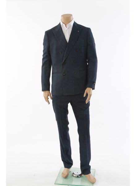 SUITOR Suitor Blue Herringbone DB Suit