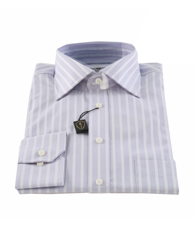 LIPSON Classic Fit Mauve Stripe Shirt