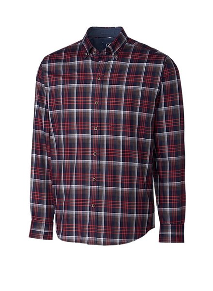 CUTTER & BUCK Classic Fit Dry Creek Plaid Shirt