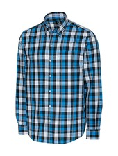 CUTTER & BUCK Classic Fit L/S Blue Lake Plaid Shirt