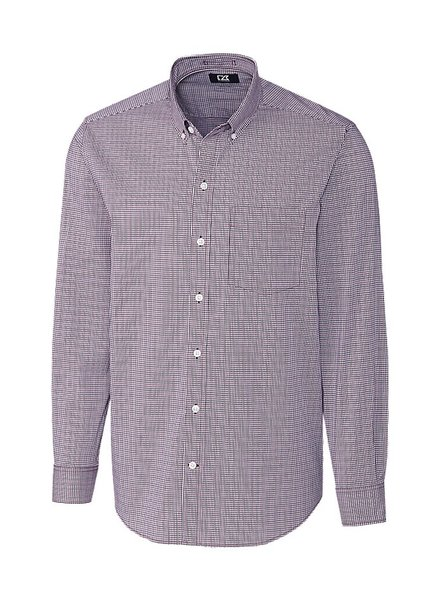 CUTTER & BUCK Classic Fit Bordeaux Casey Check Shirt