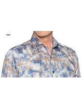 7 DOWNIE Modern Fit Blue with Tan Shirt