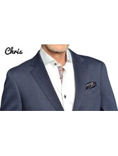 7 DOWNIE Modern Fit Mid Blue Stretch Sport Coat