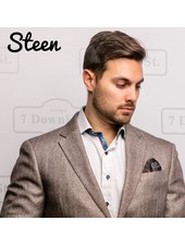 7 DOWNIE Modern Fit Tan Herringbone Sport Coat