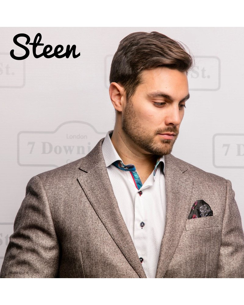 7 DOWNIE Modern Fit Tan Herringbone Sport Coat