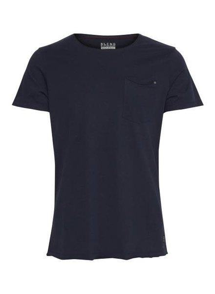 BLEND Plain Cut Edge T Shirt