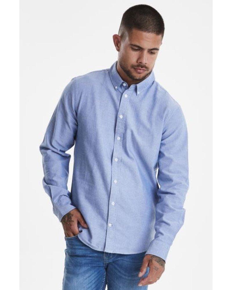 BLEND Slim Fit Plain Oxford LS Shirt