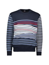 PAUL & SHARK Navy with Multi Stripes Sweater