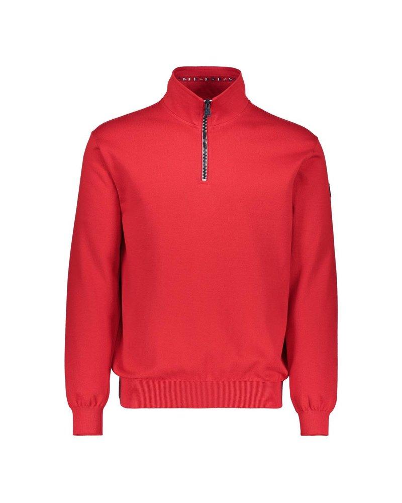 PAUL & SHARK Red 1/4 Zip Cotton Sweater