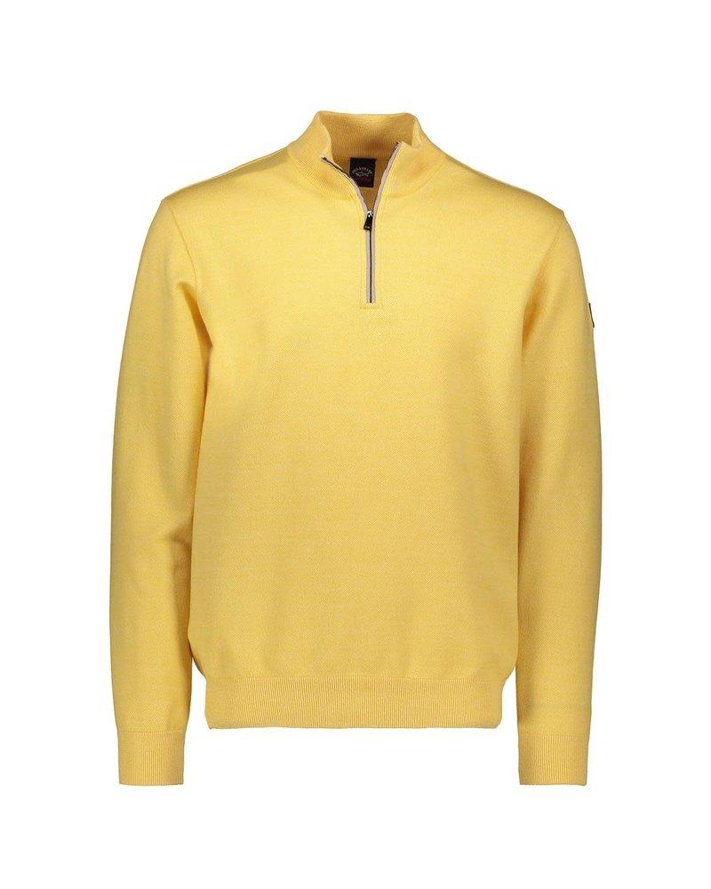 PAUL & SHARK Yellow 1/4 Zip Sweater