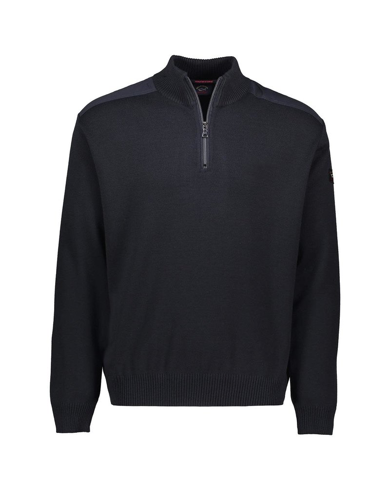 PAUL & SHARK Yachting Wool Nylon Patched 1/4 Zip Sweater