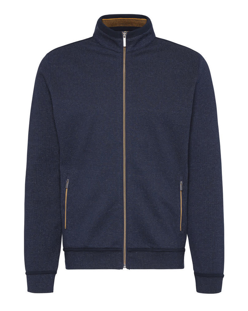 BUGATTI Navy Full Zip with Gold Trim