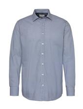 BUGATTI Modern Fit Blue and Yellow Dots Shirt