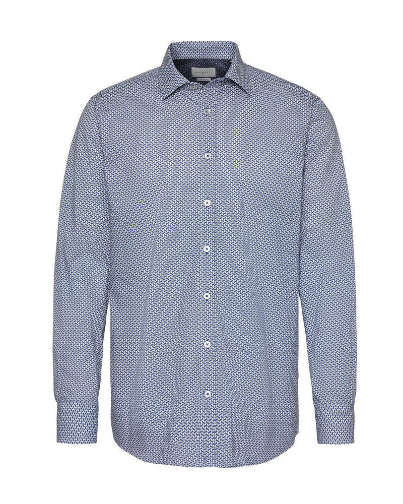 BUGATTI Blue and Yellow Dots Shirt