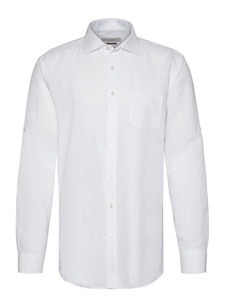 BUGATTI Modern Fit White Linen Cotton Shirt