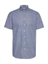 BUGATTI Modern Fit Blue with White Daisies Shirt