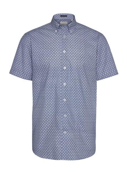 BUGATTI Blue with White Daisies SS Shirt