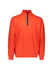 PAUL & SHARK Orange Organic Cotton 1/4 Zip Sweater