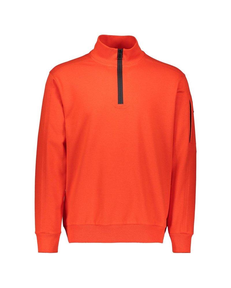 PAUL & SHARK Orange Organic Cotton 1/4 Zip Sweater