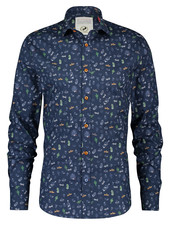 A FISH NAMED FRED Tequila Navy Shirt