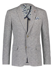 A FISH NAMED FRED Slim Fit Knitted Melange Grey Sport Coat