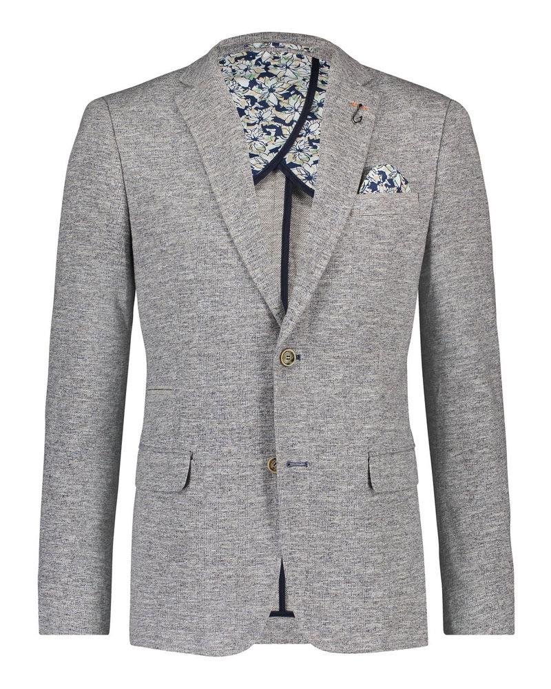 A FISH NAMED FRED Slim Fit Knitted Melange Grey Sport Coat