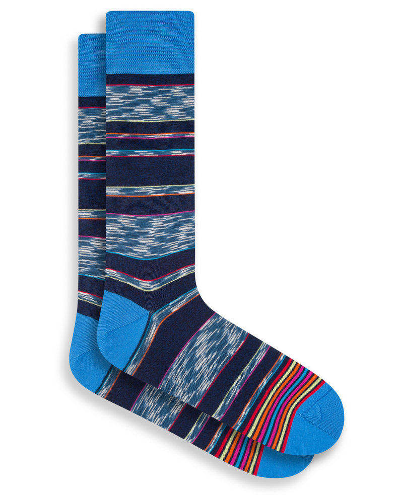 BUGATCHI UOMO Multi Colour Stripe Socks